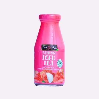 Ceylon  Iced  Black tea Lychee & Strawberry(Zero Sugar)  -200ml