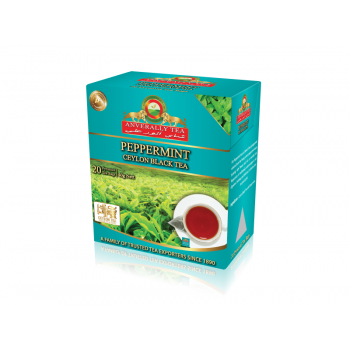 Peppermint Black Tea Pyramid Tea Bags - Without Envelope