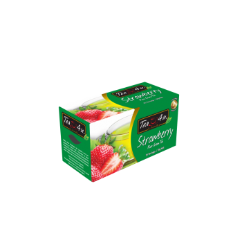 Strawberry Green Tea Single Chamber Tea Bags - With Envelope