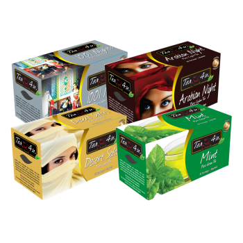 TEA4U Selection 03 -  WITH ENVELOPE  TEA BAGS