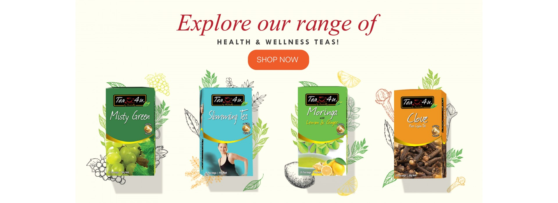 Tea4u health range